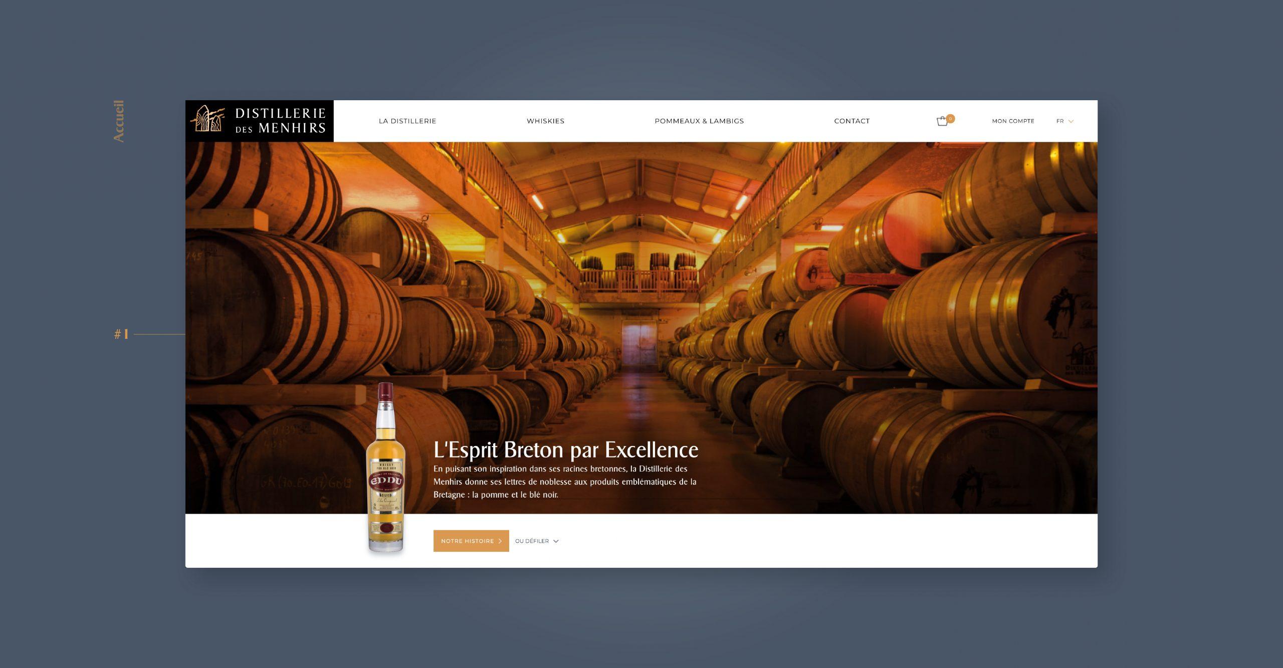 Distillerie des Menhirs - Web design Agence Matcheo Quimper